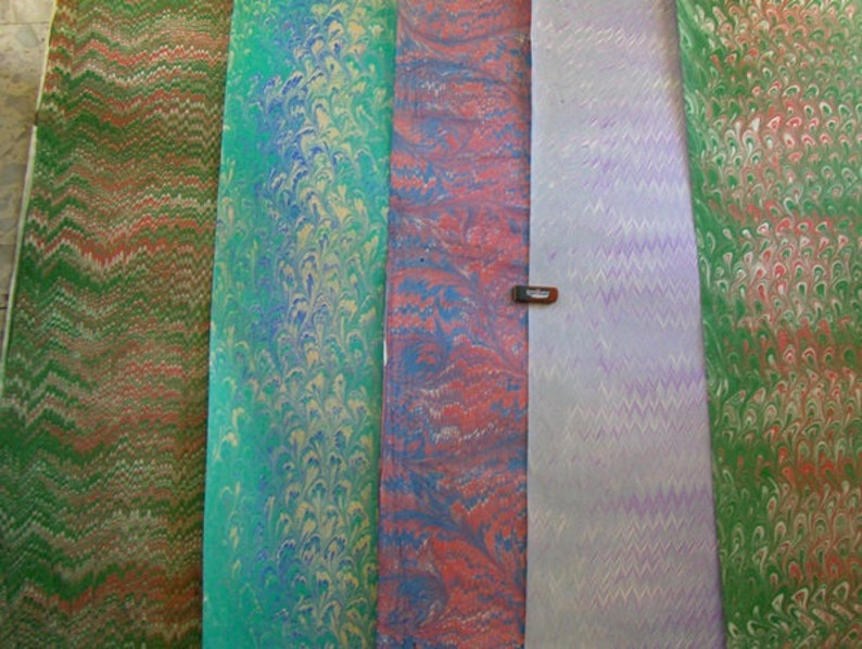 5 / cm 50 X 70 hand marbled paper Italy papel marmolado image 1