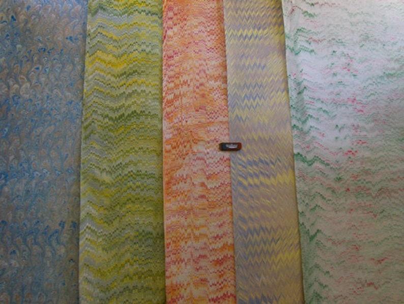 5 /   cm 50 X 70  hand  marbled paper carta marmorizzata image 1