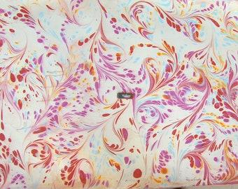 "marbling Carta di cotone Amatruda Amalfi SIGNED ,carta di cotone marmorizzata, cm 70 x 100 , 27,3"" X 39"" , dipinto a mano - FIRMA P014"
