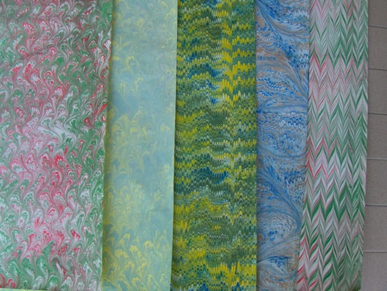 5 / cm 50 X 70 hand marbled paper Italy handmarmorpapier image 1