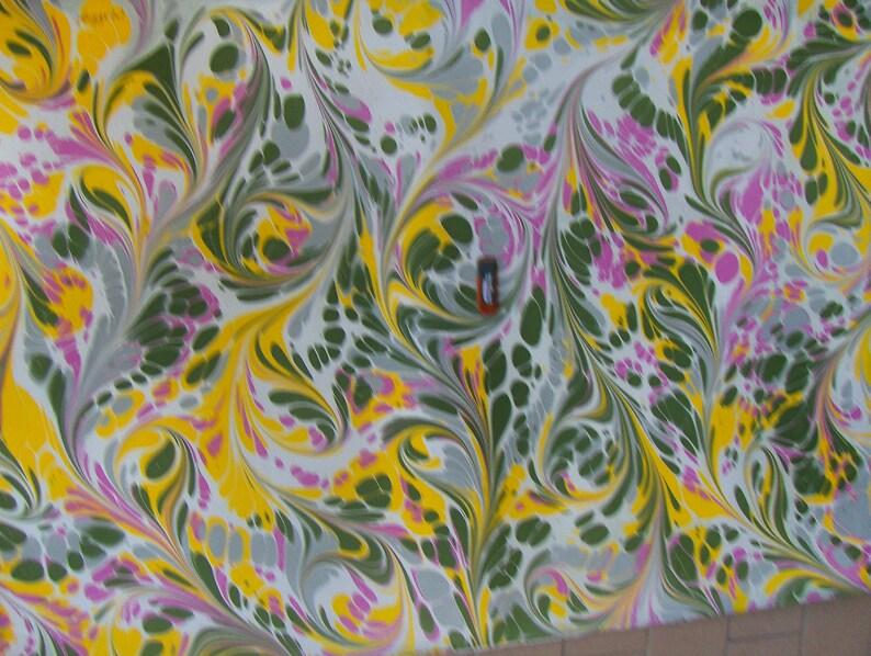 marbling Cotton paper Amatruda Amalfi SIGNED carta di cotone image 1