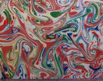 """marbling Carta di cotone Amatruda Amalfi SIGNED ,carta di cotone marmorizzata, cm 50 x 70 , 27,3"""" X 19,5"""" , <a0> A mano Qam 0014 FIRMATO</a0>"""