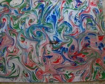 """Italia pittura di carta marmorizzata a mano,SIGNED carta marmorizzata, cm 70 x 100 , 27,3"""" X 39"""" , - p026N FIRMATO"""