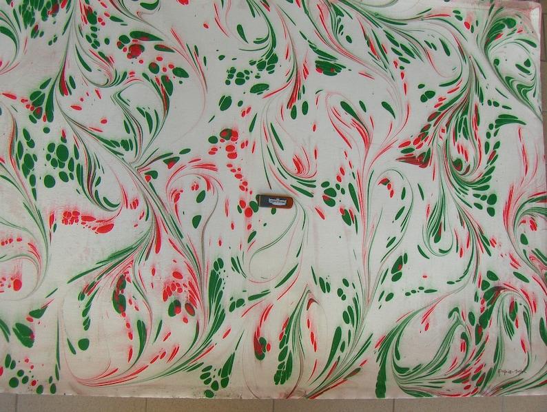marbling Cotton paper Amatruda Amalfi SIGNED carta di cotone image 0