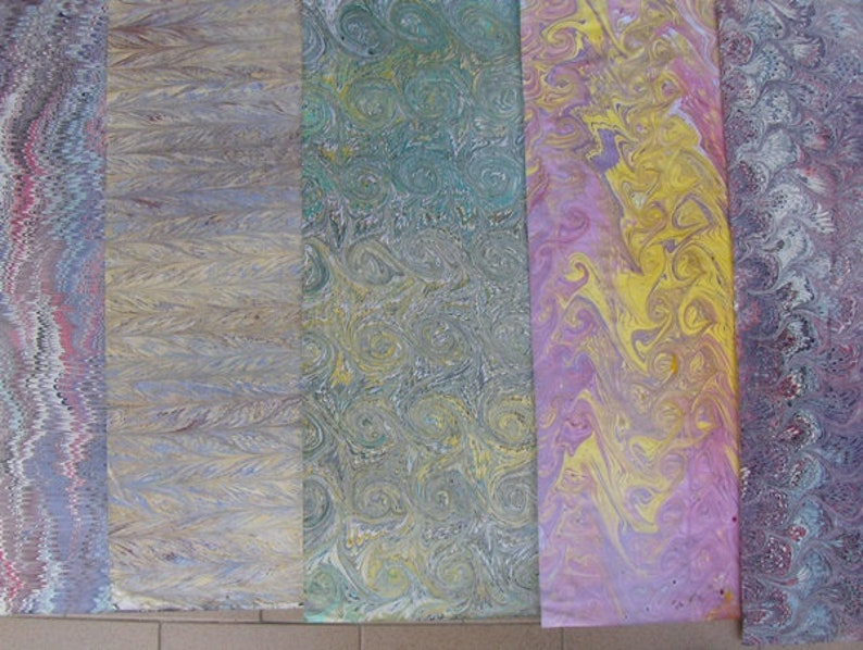5  Italy  hand  marbled paper carta marmorizzata  cm 50 X 70 image 1
