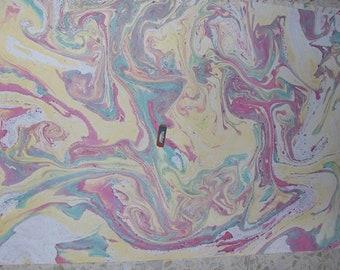 """Italia pittura di carta marmorizzata a mano SIGNED, carta carta marmorizzata, cm 70 x 100 , 27,3"""" X 39"""" , - p022N FIRMATO"""