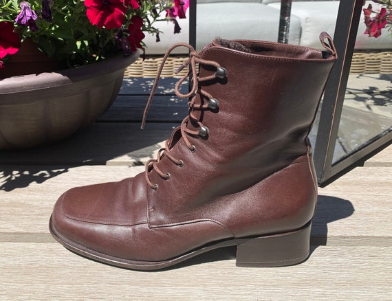 BALLY Shoes Vintage SHEARLING LINED Boot Brown Lea