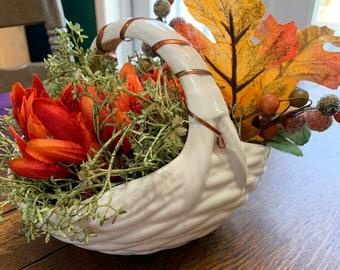 Ceramic Basket Planter