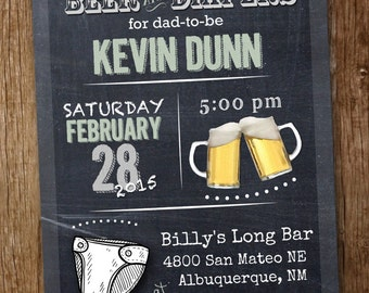 Beer and Diapers Diaper Party Invitation!