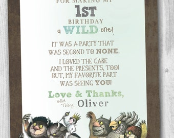 Where The Wild Things Are Thank You Notes