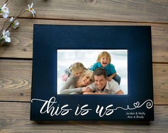 This Is Us Picture Framethis Is Usfamily Picture Frame Etsy