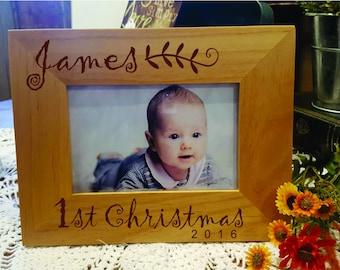 First Christmas Frame, Christmas Gift Baby Frame, Personalized Baby Frame, Newborn Baby Gift, christmas Newborn Gift, Baby Gift