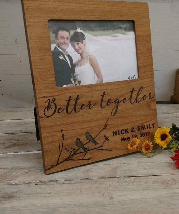 cadre photo personnalis mariage cadeau de mariage cadeau etsy. Black Bedroom Furniture Sets. Home Design Ideas