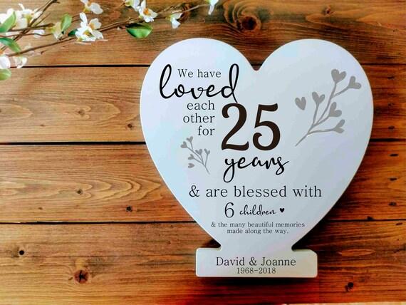 Wedding Anniversary Sign Gift Parents Anniversary Gift Etsy
