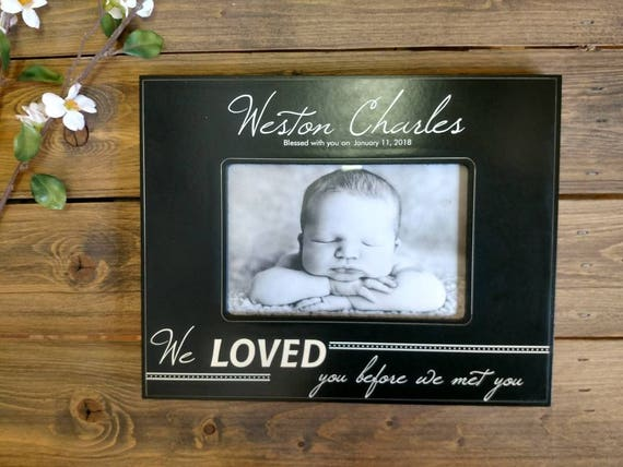personalized baby picture frame personalized baby frame etsy