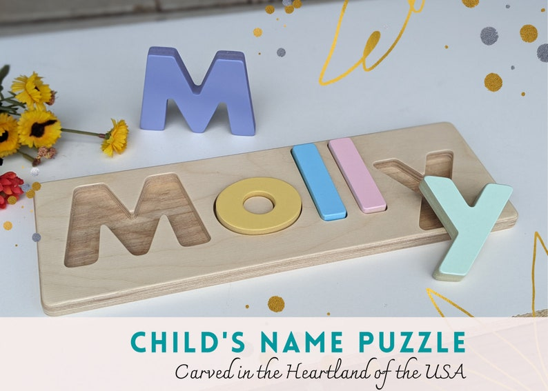 Child's name puzzle personalized name puzzle christmas image 0