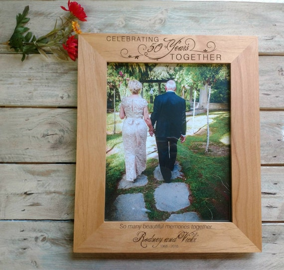 50th wedding anniversary frame personalized anniversary etsy
