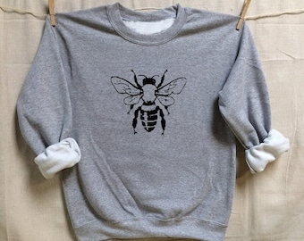 BEE. Unisex 50/50 Sweatshirts. Women Mens Clothing. Hive. Beehive. Honey. Activist. Nature.Organic.Honeybee.best friend gift. Save the bees!