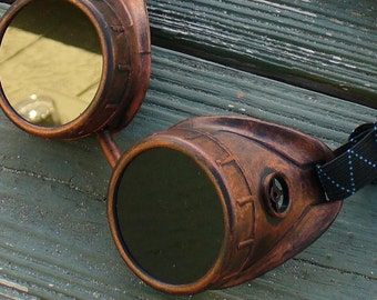 Steampunk goggles glasses aviator Time Travel Crazy Scientist's Oculo-Vision Tool--redred