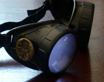 Steampunk  goggles glasses Time Travel Crazy Scientist's Oculo-Vision Tool welding cyber punk biker gothic rave-owp-lila