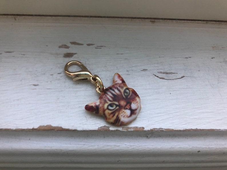 Cat zipper pull cat purse dangle