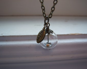 Mustard Seed Necklace - Glass Orb Necklace - Faith - Faith Necklace -Free Gift With Purchase