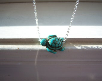 Turquoise Turtle Necklace - Turtle Necklace - Sea Turtle - Free Gift With Purchase