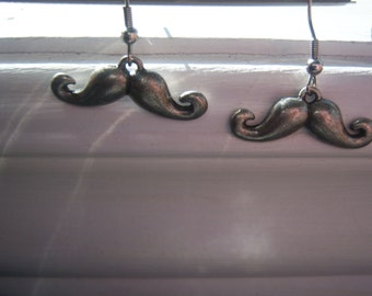 Moustache Earrings -movember - Free Gift With Purchase