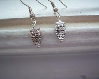 Owl Earrings - Bird Earrings -Woodland Earrings