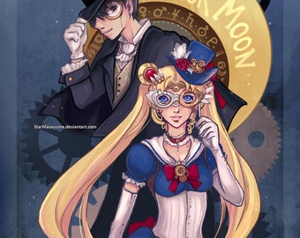 Steampunk Sailor Moon Print