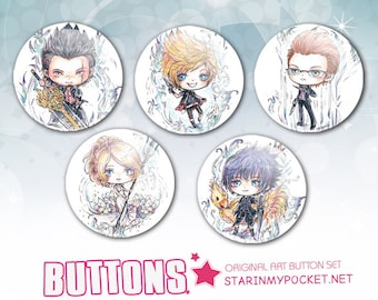 Final Fantasy XV Buttons Set