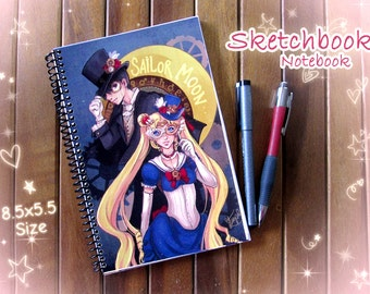Sailor Moon Sketchbook or Notebook Journal