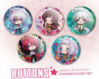 KamisamaHajimemashita Anime Buttons Set