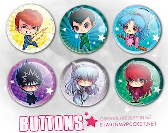 "YYH Anime 1.5"" Buttons Set"