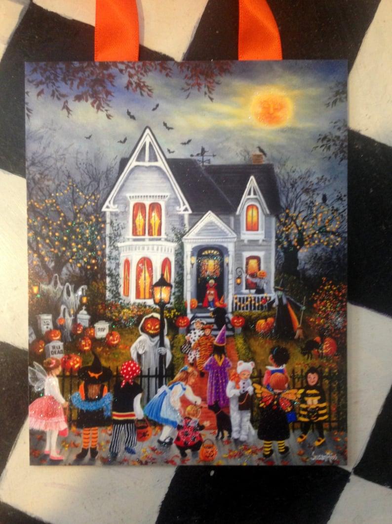 Halloween Decorations, Halloween Decor, Haunted House Decoration, Halloween  Art Print
