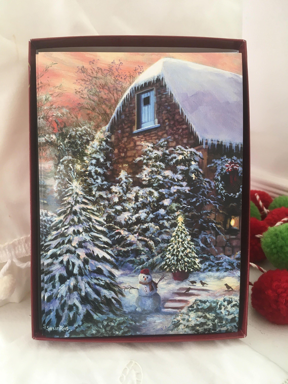 Susan Rios Boxed Christmas Cards Holiday Card Snowy Winter   Etsy