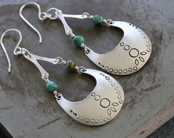 Sterling dangles turquoise earrings by Katherine sheetz