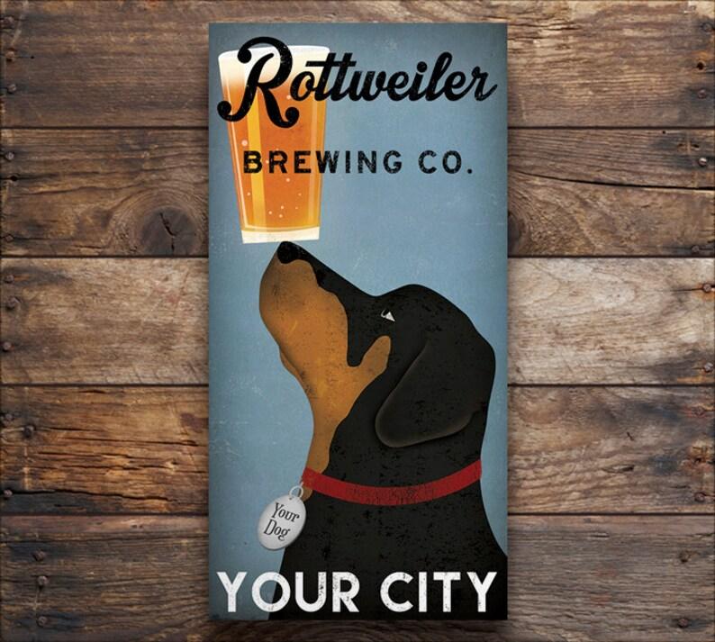 715b7e6c466b CUSTOM Personalized ROTTWEILER Dog BEER Brewing Company | Etsy