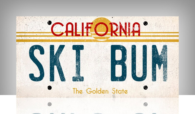 California License Plate Gallery Wrapped Canvas Wall Art SIGNED FREE CUSTOM