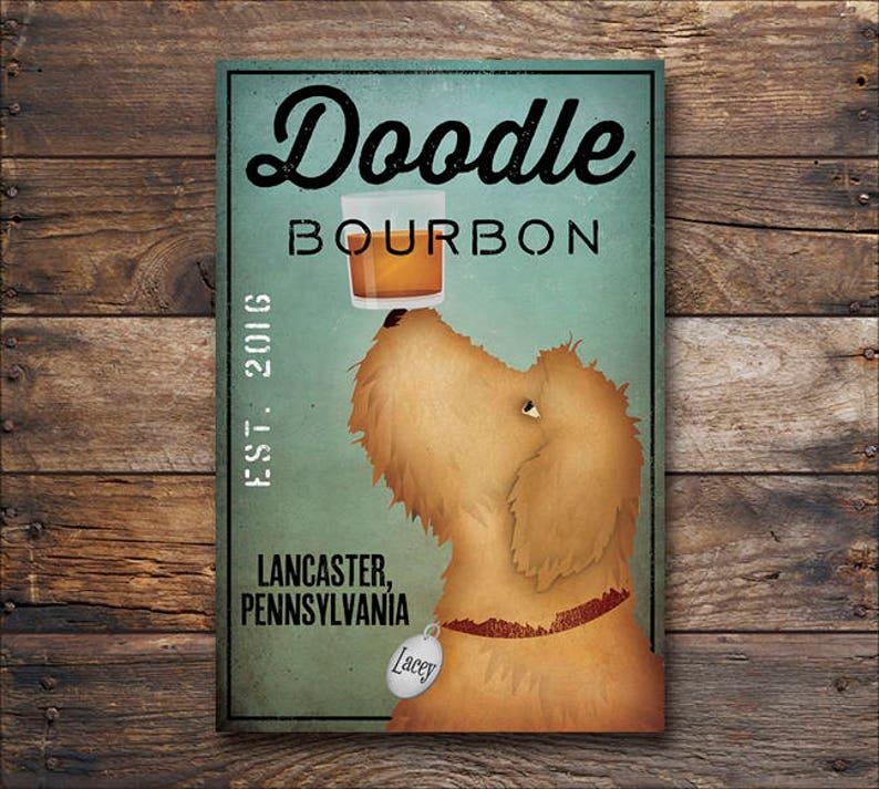 631356ef7716 FREE CUSTOMIZATION Goldendoodle Labradoodle Whiskey Bourbon | Etsy