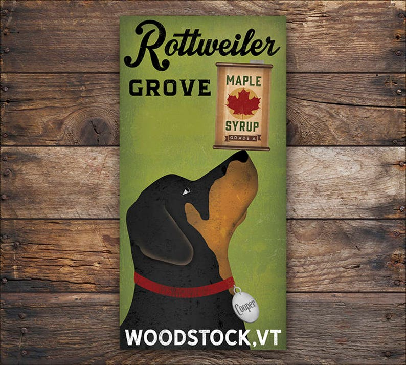 bc329a5905f6 CUSTOM Personalized ROTTWEILER Dog Maple Syrup Company Gallery | Etsy