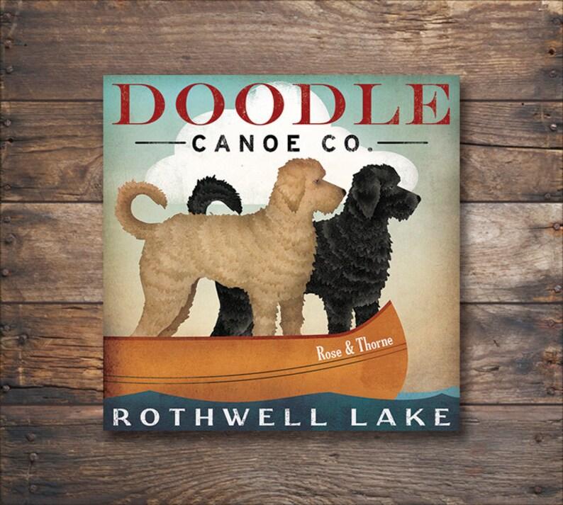 0dad958e475f Double DOODLE Labradoodle Goldendoodle Canoe Company CUSTOM | Etsy