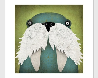 The Walrus ART Illustration giclee print SIGNED by Ryan Fowler