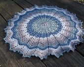 Round crochet doily cool steel color home decor living bedroom 20 inch crochet round tablecloth