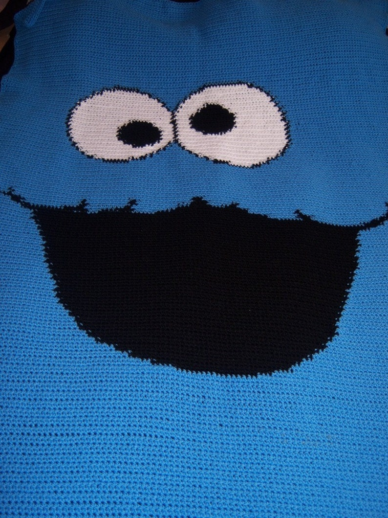 Super Single Bedspread 4 weeks production time Cookie Guy Crocheted Blanket 56 x 62 Inches Snuggle Blanket