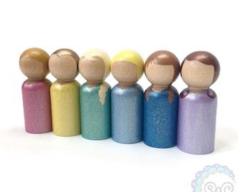 princess peg dolls - glitter + shimmer princesses
