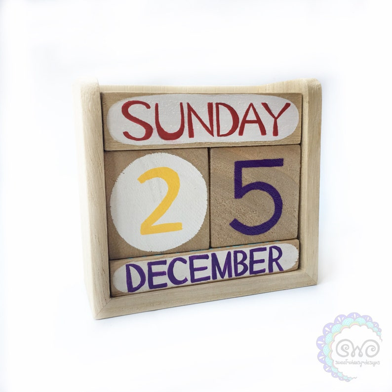 Perpetual Calendar Wooden Calendar Montessori Waldorf Etsy