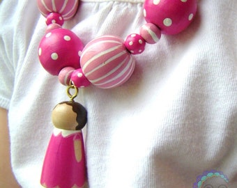 the custom collection - peg doll necklace