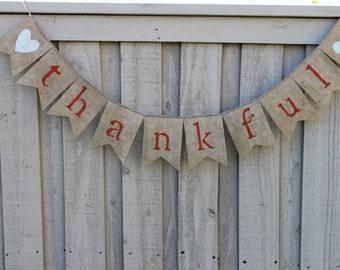 thankful burlap banner