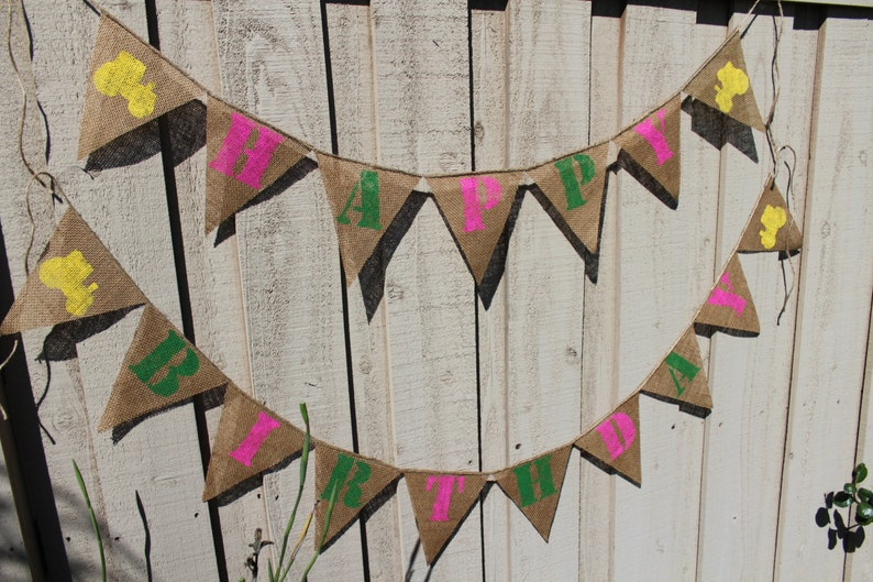 Girl John Deere themed birthday banner